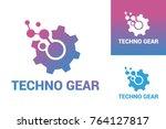 techno gear logo template design | Shutterstock .eps vector #764127817
