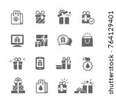 set of gift boxes | Shutterstock .eps vector #764129401