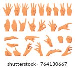 vector flat style set of... | Shutterstock .eps vector #764130667