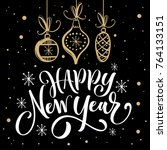 happy new year. greeting card... | Shutterstock .eps vector #764133151