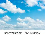 Clear Blue Sky With Plain Whit...