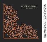 laser cutting corner. tapestry... | Shutterstock .eps vector #764144995