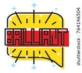 brilliant speech bubbles vector ... | Shutterstock .eps vector #764146504