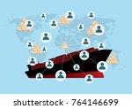 logistics and transportation of ... | Shutterstock .eps vector #764146699