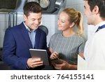 meeting of restaurant team in...   Shutterstock . vector #764155141