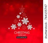 christmas sale design template. ... | Shutterstock .eps vector #764155747