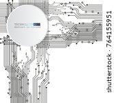 vector circuit board... | Shutterstock .eps vector #764155951