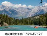 rafting on the bow river in...