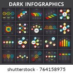 vector infographic elements on... | Shutterstock .eps vector #764158975