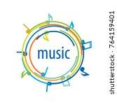 vector logo music | Shutterstock .eps vector #764159401