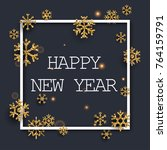 happy new year greeting card.... | Shutterstock .eps vector #764159791