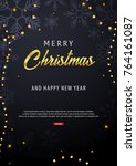 marry christmas and happy new... | Shutterstock .eps vector #764161087