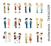 people's professions set on... | Shutterstock . vector #764161339