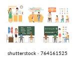 language course set of...   Shutterstock . vector #764161525