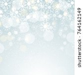 winter lights on blue... | Shutterstock .eps vector #764162149