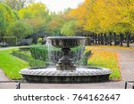 Peaceful Scenery With Fountain...