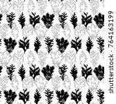 botanical vector seamless... | Shutterstock .eps vector #764163199