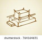 vintage solomon credence for... | Shutterstock .eps vector #764164651