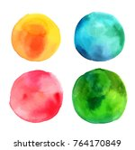 a set of abstract watercolour...   Shutterstock .eps vector #764170849