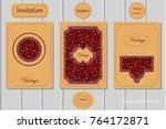 vintage invitation brochure | Shutterstock .eps vector #764172871