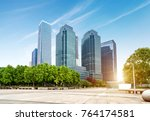 empty  modern square and... | Shutterstock . vector #764174581