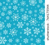 snowflakes seamless pattern.... | Shutterstock .eps vector #764175544