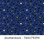 animal skin pattern in vector | Shutterstock .eps vector #764179294