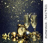 new years eve celebration... | Shutterstock . vector #764179321