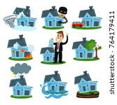 house insurance business... | Shutterstock .eps vector #764179411