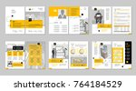 brochure creative design.... | Shutterstock .eps vector #764184529