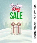 boxing day sale. christmas... | Shutterstock .eps vector #764194735