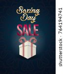 boxing day sale. christmas... | Shutterstock .eps vector #764194741