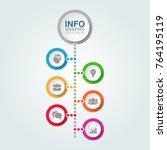 vector infographic template for ... | Shutterstock .eps vector #764195119