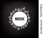 vector logo music | Shutterstock .eps vector #764195821