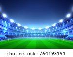 soccer stadium perspective... | Shutterstock .eps vector #764198191