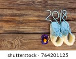 2018 new year written laces ... | Shutterstock . vector #764201125