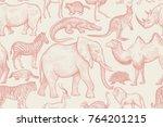 Animals Of Wild World Seamless...