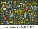 colorful vector hand drawn... | Shutterstock .eps vector #764201425