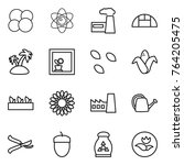thin line icon set   atom core  ... | Shutterstock .eps vector #764205475
