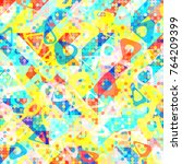 abstract 1980 memphis geometric ...   Shutterstock .eps vector #764209399