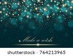 vector gold glitter particles... | Shutterstock .eps vector #764213965
