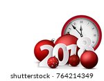 xmas and new year 2018 concept. ... | Shutterstock .eps vector #764214349