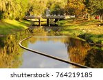 historic waterway bridge | Shutterstock . vector #764219185