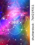 astrological new year 2018... | Shutterstock .eps vector #764219311