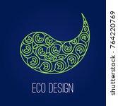 abstract natural linear logo.... | Shutterstock .eps vector #764220769