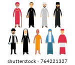 religion ministers set ... | Shutterstock .eps vector #764221327