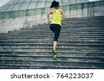 young fitness sporty woman... | Shutterstock . vector #764223037