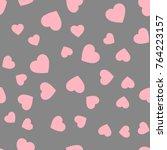 seamless hearts polka dot... | Shutterstock .eps vector #764223157