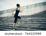 young fitness sporty woman... | Shutterstock . vector #764225989