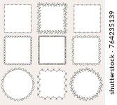 set of hand drawn frames | Shutterstock .eps vector #764235139